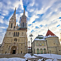 Zagreb Cathedral Winter Daytime View by Brch Photography