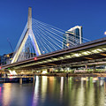Zakim Bridge And Charles River by Val Black Russian Tourchin