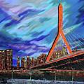 Zakim Bridge - Boston by Daniela Pasqualini