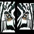 Zebras Eye - Studio Abstract  by Scott D Van Osdol