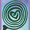 Zen Heart Labyrinth Sky by Marlene Rose Besso
