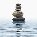 Zen Stones In Water by Bombaert Patrick