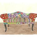 Zentangle Sofa by Patricia Voelz