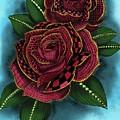 Zentangle Tattoo Rose Colored by Becky Herrera