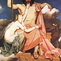 Zeus And Thetis  by Jean Auguste Dominique Ingres