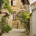 Zeytinli Village Cobblestone Lane by Bob Phillips