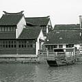 Zhujiajiao Ancient Water Town China by Christine Till