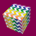 Zig Zag Cube by Chuck Staley