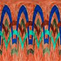Zig Zag Pattern On Orange by Barbara Griffin