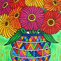 Zinnia Fiesta by Lisa  Lorenz