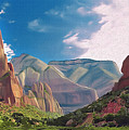 Zion Cliffs by Walter Colvin