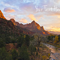 Zion Landscape Customized Print by Gigi Ebert