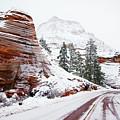 Zion Road In Winter by Daniel Woodrum