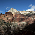 Zion Roadway In Deep Shadow by Lawrence Drake