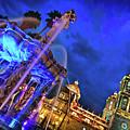 Zocalo At Night In Puebla, Mexico by Sam Antonio Photography
