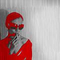 Zoe In Red by Naxart Studio