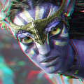 Zoe Saldana - Neytiri - Use Red And Cyan 3d Glasses by Brian Wallace