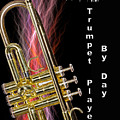 Zombie Slayer By Day Trumpet Player By Day by M K  Miller