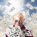 Zombie With Crazy Money. Filthy Rich Millionaire by Jorgo Photography - Wall Art Gallery
