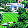 Zoomed In Photo Of The White House by William Rogers