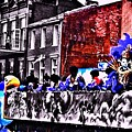 Zulu Krewe In Red And Blue by Paula Baker