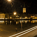 Zurich At Night by Erik Burg