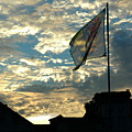 Zurich Griffin Flag At Sunset by Ginger Wakem