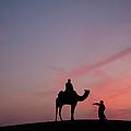 0399-sunset At Sam Sand Dunes by Ajay K Shah