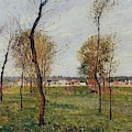 A Meadow In Eragny, 1889 by Camille Pissarro