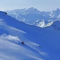 A Young Skier, A Freerider Skiing In by Bernard Van Dierendonck / Look-foto
