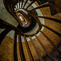 Abandoned Spiral Staircase by Jaroslaw Blaminsky