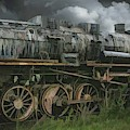 Abandoned Steam Locomotive  by Robert Kinser