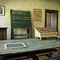 An Old Classroom With Blackboard And Boards With Old Script by Stefan Rotter