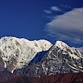 Annapurna South Peak And Pass In The Himalaya Mountains, Annapurna Region, Nepal by Raimond Klavins