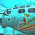 B-17 Aluminum Overcast Pin-up by Allen Beatty