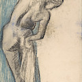 Bather Drying Herself By Degas by Edgar Degas