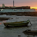 Beached Boats At Sunset Cadiz Spain by Pablo Avanzini