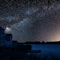 Beautiful Night Sky Astrophotography Landscape Image Of Milky Wa by Matthew Gibson