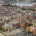 Boston Government Center, North End And Harbor by Thomas Marchessault