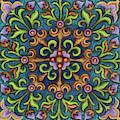 Botanical Mandala 8 by Amy E Fraser
