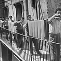 Boys Working In Pasta Factory Carry by Alfred Eisenstaedt