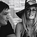 Brigitte Bardot In Saint Tropez, France by Jean-pierre Bonnotte