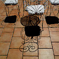 Chairs And Shadows by Mike Nellums