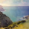 Cornish Headlands  by Abbott Handerson Thayer