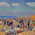 Crowd At The Seashore by William Glackens