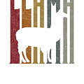Cute Funny Llama Make Me Happy Retro Llamas by The Perfect Presents