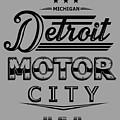 Detroit Motor City by DG ART Prints