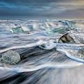 Diamond Beach Iceland Iv by Joan Carroll