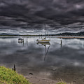 Early Morning Clouds And Reflections On The Bay by Merrillie Redden