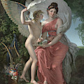 Erato, Muse Of Lyrical Poetry, 1800 by Charles Meynier